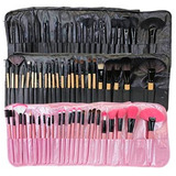 Brochas Maquillaje 24 Piezas Set Profesional Colores Calidad