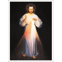 Lienzo Tela, Cristo Misericordioso, Arte Sacro, 54x74 Cm