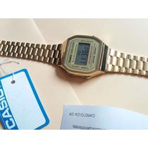 Reloj Clasico Casio Dorado A168 Wg Vintage Moda Retro