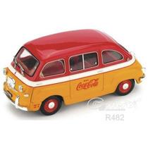 Fiat 600 Cocacola 1960 Diecast 1/43 Brumm Hecho En Italia