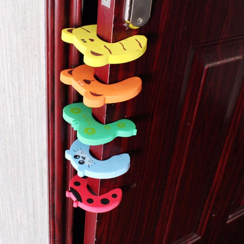 4 protectores de seguridad para puertas ni os y bebes - Puertas de seguridad ninos ...
