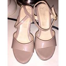 Preciosos Zapatos Altos Jimeina #3.5 Sandalia Beige