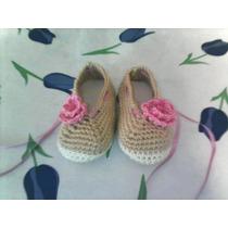Zapatos Tejidos Para Bebe Y Adultos