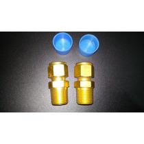 Conector Recto 1/2 Npt A 1/2 Od En Bronce Para Tubing