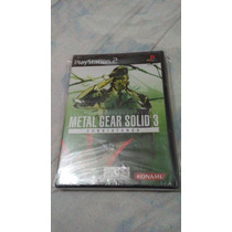 Metal Gear Solid Subsistence 3 Nuevo, Sellado Ps2 $499