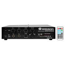 Radson 400m Usb Sdn Amplificador 40 Watts 70v Publidifusion