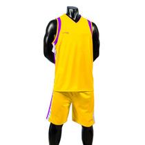 Uniforme Basketball Amarillo-morado Short/calcetas Galgo