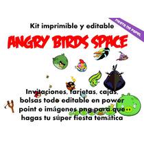 Ki-011 Kit Imprimible Y Editable Angry Birds Space