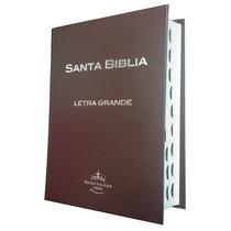 Biblia Letra Grande Tapa Dura Con Indice Café Chocolate