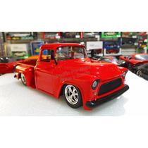 1:24 Chevrolet Stepside 1955 Rojo Jada Toys Pick Up Display