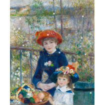 Lienzo Tela Auguste Renoir Dos Hermanas 1881 50 X 70 Cm