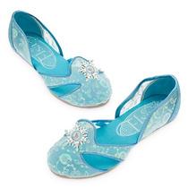 Zapatos De Elsa P/ Fiesta Frozen Originales Disney Store