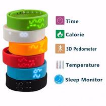 Podometro Brazalete Inteligente Pulsera Reloj Fitness Wrist