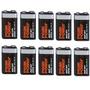 Oferta Juego De 10 Bateria Alcalina 9v Pila Cuadrada Ap-1ce
