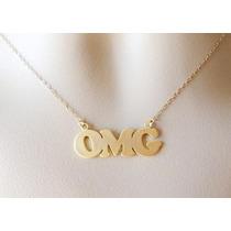 Collar Dorado Con Diseño Omg