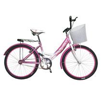Bicicleta Montaña Bravia Dama Canasta Y Parrilla Rodada 24