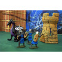 Lote Dragon C 3 Figuras Caballerro Epoca Medieval Esc 1/40