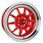 Set De 4 Rines Drag Dr16 Rojos 15x7 4/100 Chevrolet Aveo