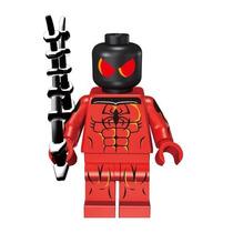 Figura Sw17 Spiderman Araña Escarlata Compatible Con Lego
