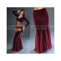 Falda Godetes Terciopelo Danza Árabe, Belly Dance, Tribal