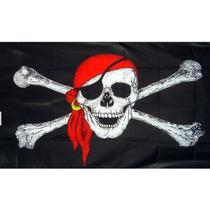 Bandera De Piratas 150x90cm. Banderas Del Mundo Y Temáticas.