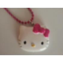 Collar De Hermosa Cara De Hello Kitty Sanrio! Importado