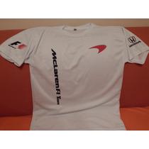 Playera Blanca Dry Fit Mclaren F1 2016