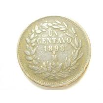 Republica Mexicana Un Centavo Fecha 1898 Ceca Mo Cobre