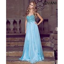 Vestido Fiesta Noche Alta Costura Jovani Talla 12 $780 Dlls