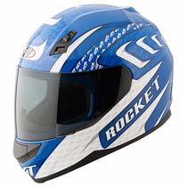 Casco Joe Rocket Rkt700 Azul Motociclismo Proteccion