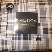 Edredon Nautica Reversible Matrimonial/queen 100% Algodón
