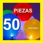 50 Globos Luz Led Luminoso Fiesta Xv Boda Dj Decoración Glow