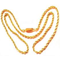 Cadena Torzal De Oro Macizo 14k. 60cm. Y 50grs. Solid Gold