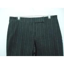 Pantalón New York Company Negro Con Rayas T- 12(34)