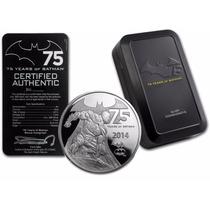 Moneda Conmemorativa Batman 75° Aniversario 2oz. Plata Proof