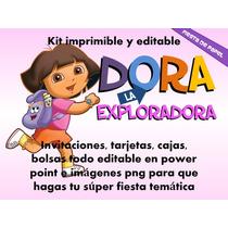 Ki-005 Kit Imprimible Y Editable Dora La Exploradora