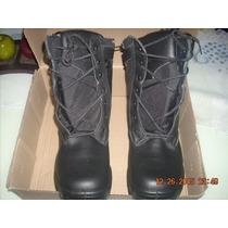 Calzado De Trabajo Unisex Tipo Bota Swat,100% Piel