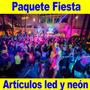 Paquete Fiesta Artículos Neón-luz Led Boda Xvaños Party Glow