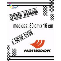 Sticker Hankook Para Automóviles (par)