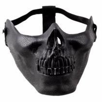 Media Mascara Calavera Negra Proteccion Ideal Moto O Gotcha