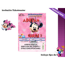 Ki-014 Kit Imprimible Y Editable Minnie Mouse Disney Fiesta
