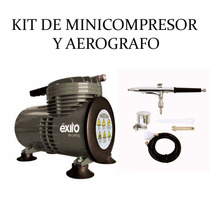 Kit Mini Compresor Y Aerografo Profesional