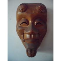Mascara Japonesa De Madera Oriental Retro Vintage Souvenir