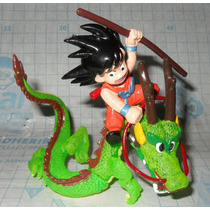 Figura Dragon Ball Z Goku Shenlong Plastico 10 Cm Movible