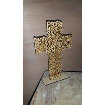 Cruces Mdf Padre Nuestro 30cm Para Recuerdos