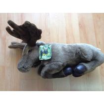 Peluche Alce Moose Marca Fiesta Toy 46 Cm Largo