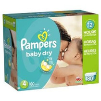 Pampers Baby Dry Pañales Economía Paquete Plus, Tamaño 4, 18