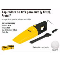 Aspiradora De 12v Para Auto (y Filtro) Pretul