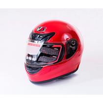 Casco Moto Trabajo Prime Certificado Dot Snell Lece Rojo