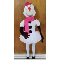 Disfraz Muñeco De Nieve Olaf Tutu Niña Disfraces Pastorelas